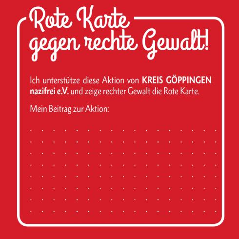 Rote Karte gegen rechte Gewalt! - Quadrati
